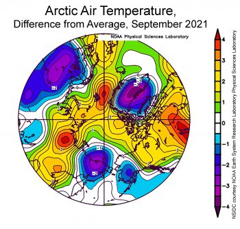 temperature anomaly for September 2021