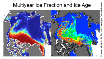 ice fraction and age maps
