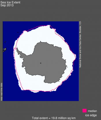 September Antarctic sea ice image
