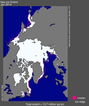 sea ice extent image