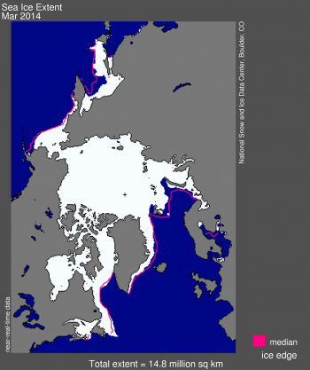 Arctic sea ice at fifth lowest annual maximum