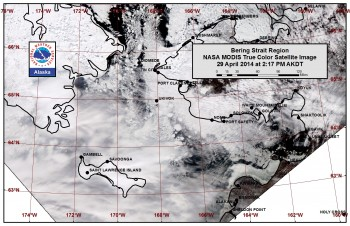 Bering Sea sea ice image
