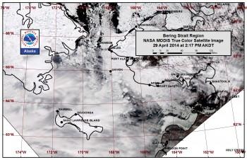 Bering Sea sea ice image