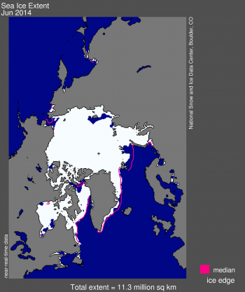 map of sea ice extent