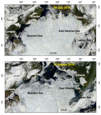 true-color composites of the Arctic