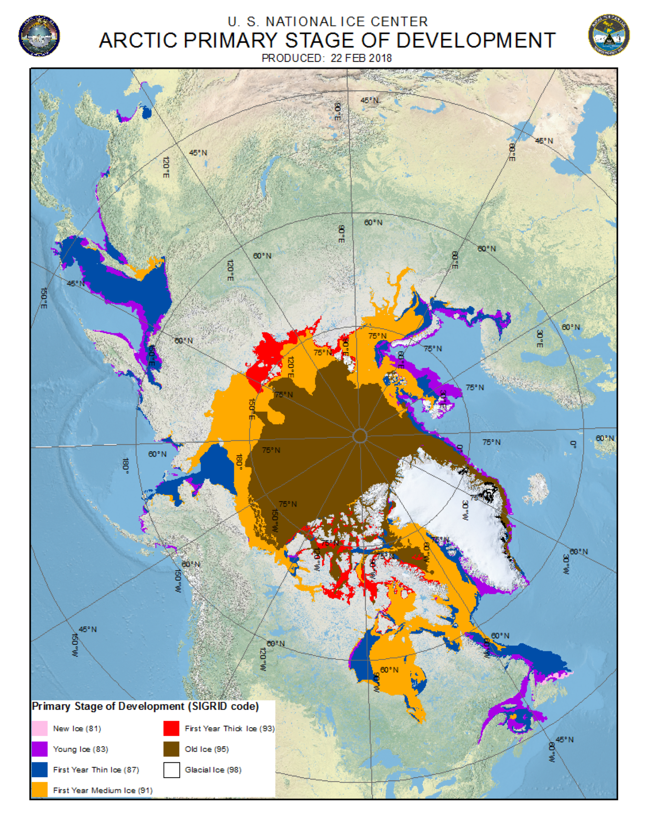 Arctic sea ice news and analysis sea ice data updated daily with this figure shows the distribution of arctic sea ice according to stage of gumiabroncs Gallery