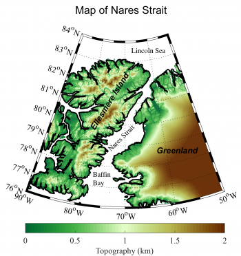 Nares Strait on map