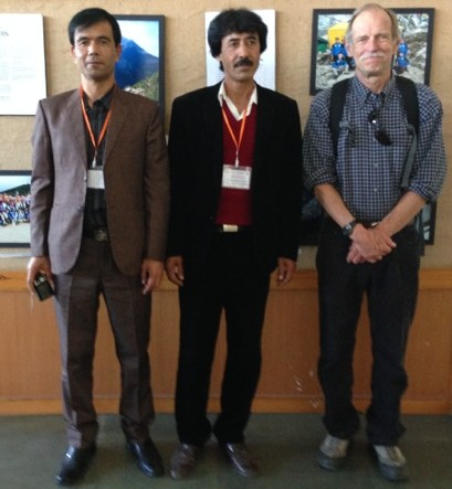 Left to right: Hafizullah Rasouli, Kabul University, Kabul, Afghanistan; Hedayatullah Arian, Kabul University, Kabul, Afghanistan; Richard Armstrong, CIRES/NSIDC, University of Colorado, Boulder, USA. Credit: B. Armstrong