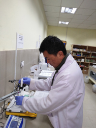 Tshewang Dendup in chemistry laboratory.