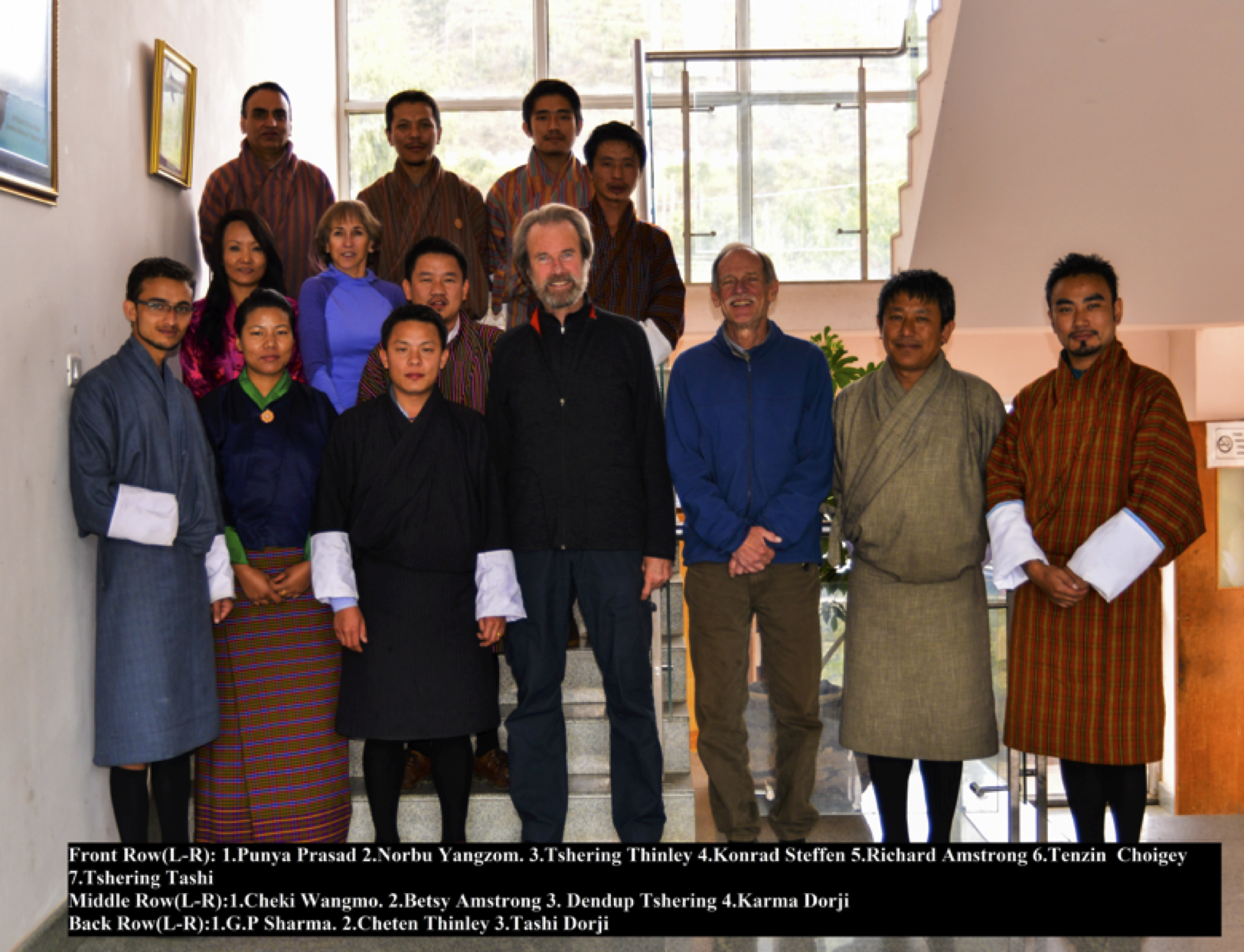Participants in the Automatic Weather Station training, Thimphu, Bhutan, October 2015