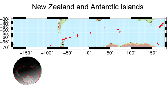 New Zealand and Antarctic Islands