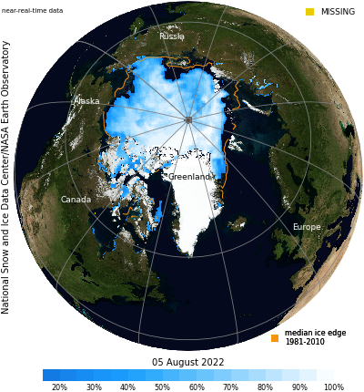 NSIDC Arctic Sea Ice Daily View