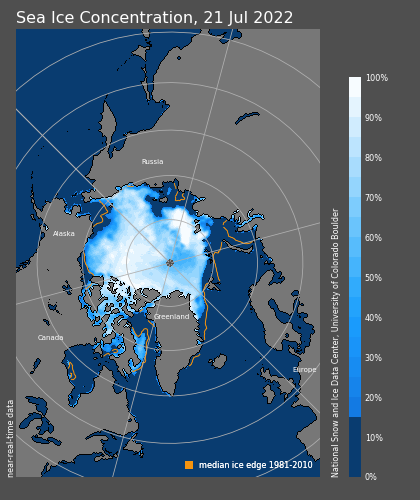Current Arctic Sea Ice Concentration