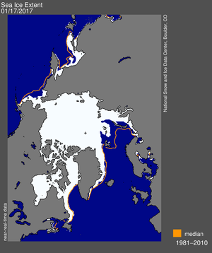 Map of sea ice extent on 21 August 2012