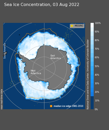 Current Antarctic Sea Ice Concentration