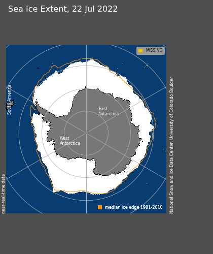 Current Antarctic Sea Ice Extent