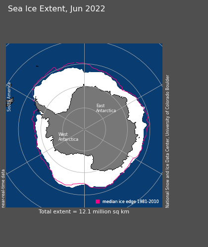 South Pole Sea Ice Extent, April 201