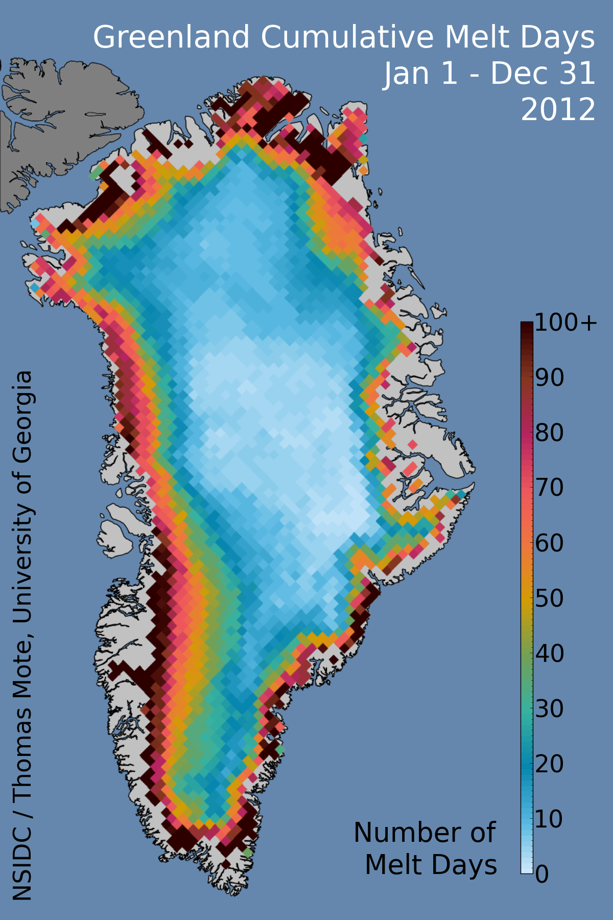 An intense Greenland melt season 2012 in review Greenland Ice