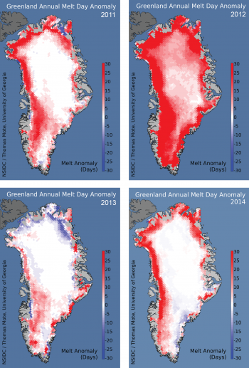 melt extent maps