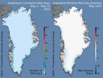 melt days and melt day anomalies images