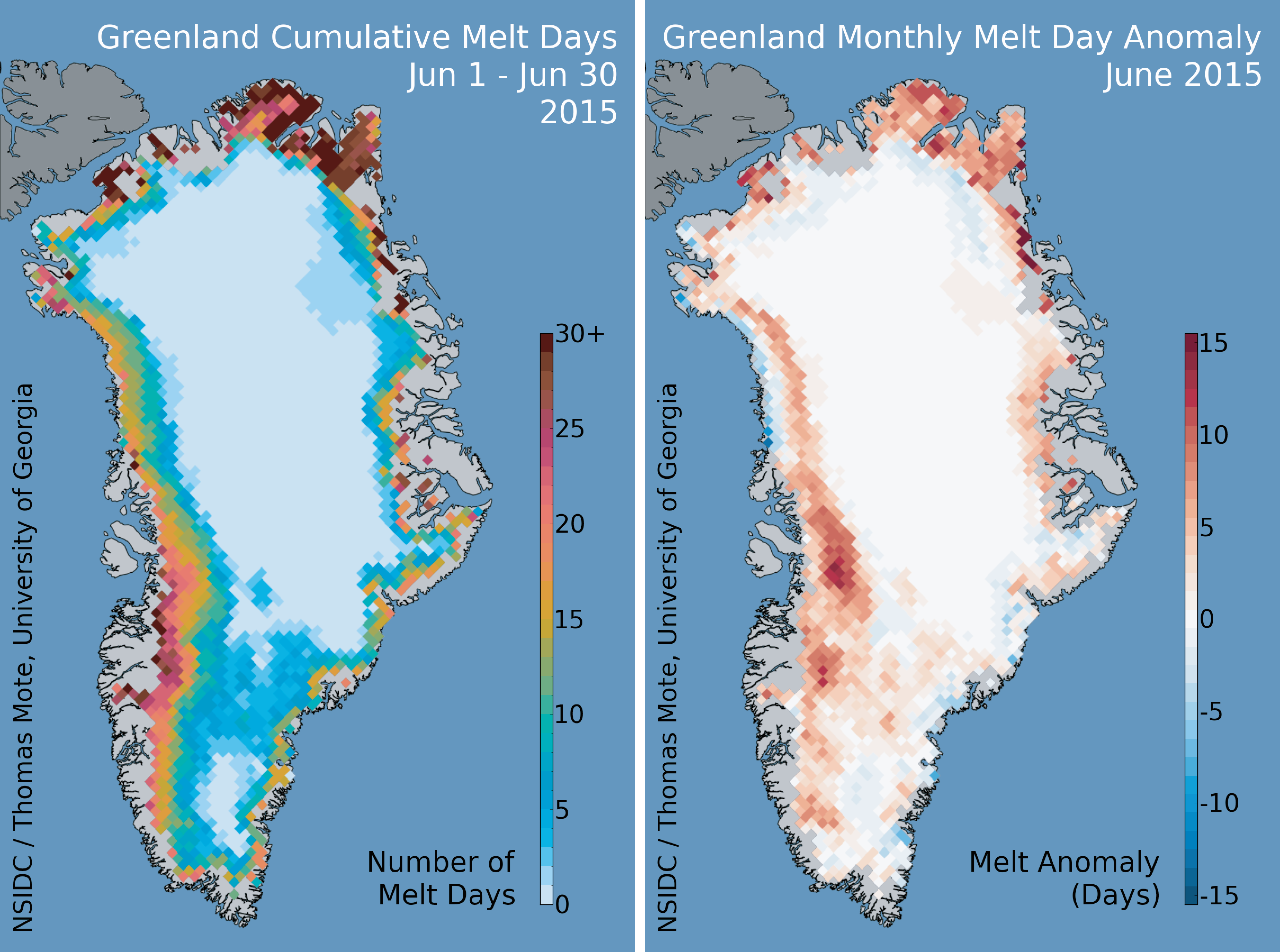 Summer heat hits cold ice sheet Greenland Ice Sheet Today