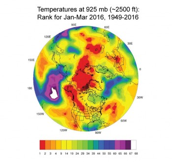 temperature map of northern hemisphere