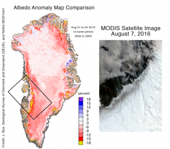 Albedo anomaly map
