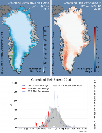 melt curve and area up to June 19