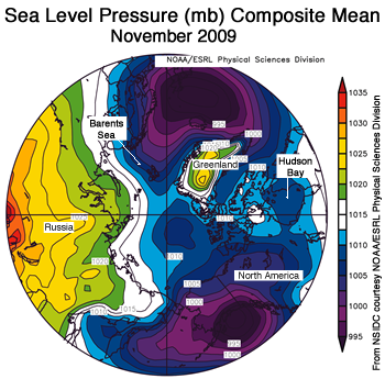 figure 4: sea level pressure map for November