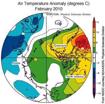 figure 4: air temp map for December 2009