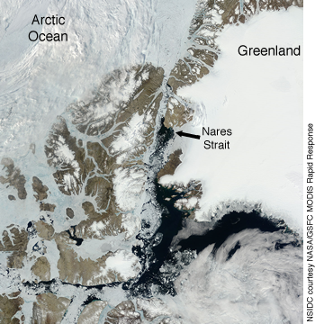 figure 5: Nares strait image