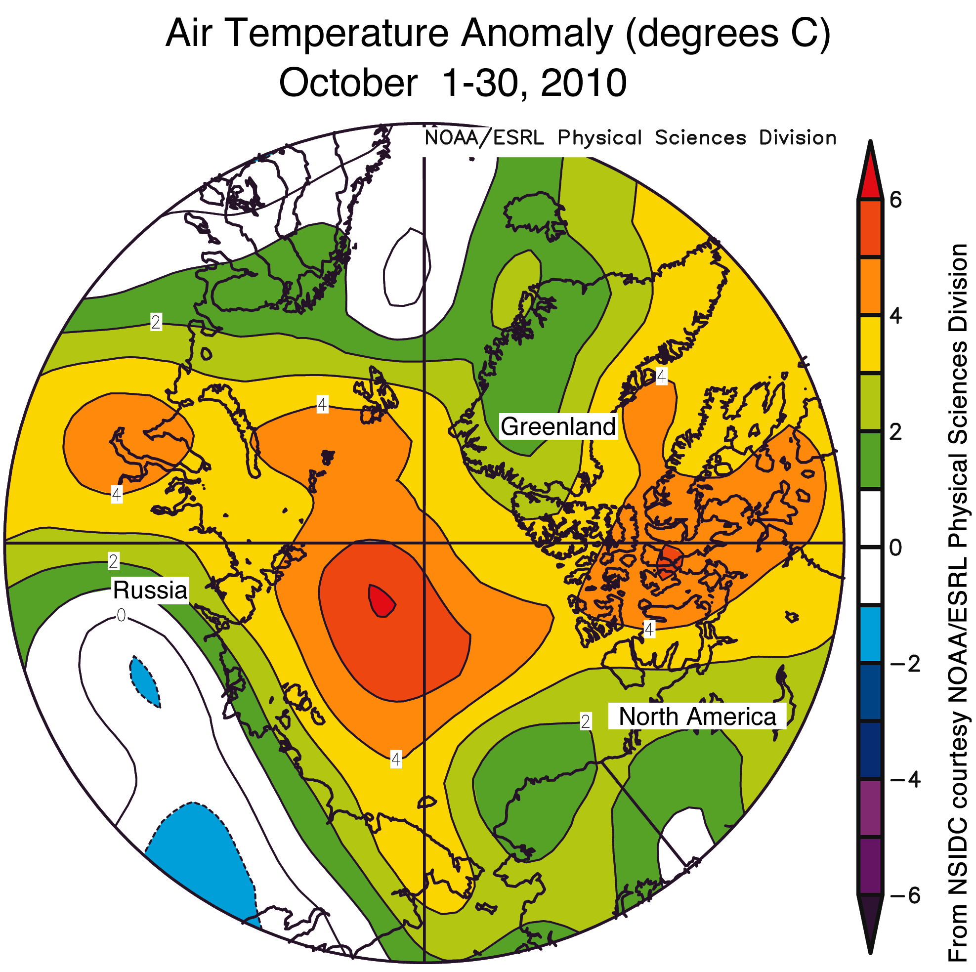Arctic Sea Ice News And Analysis - North america air temperature map