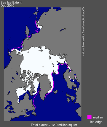 map from space showing sea ice extent, continents