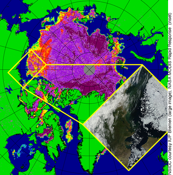 amsr and modis image