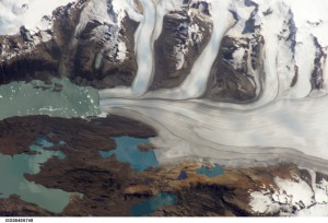 Upsala Glacier, Argentina. Taken January 22, 2002 from the International Space Station