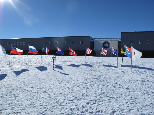 Flags at South Pole