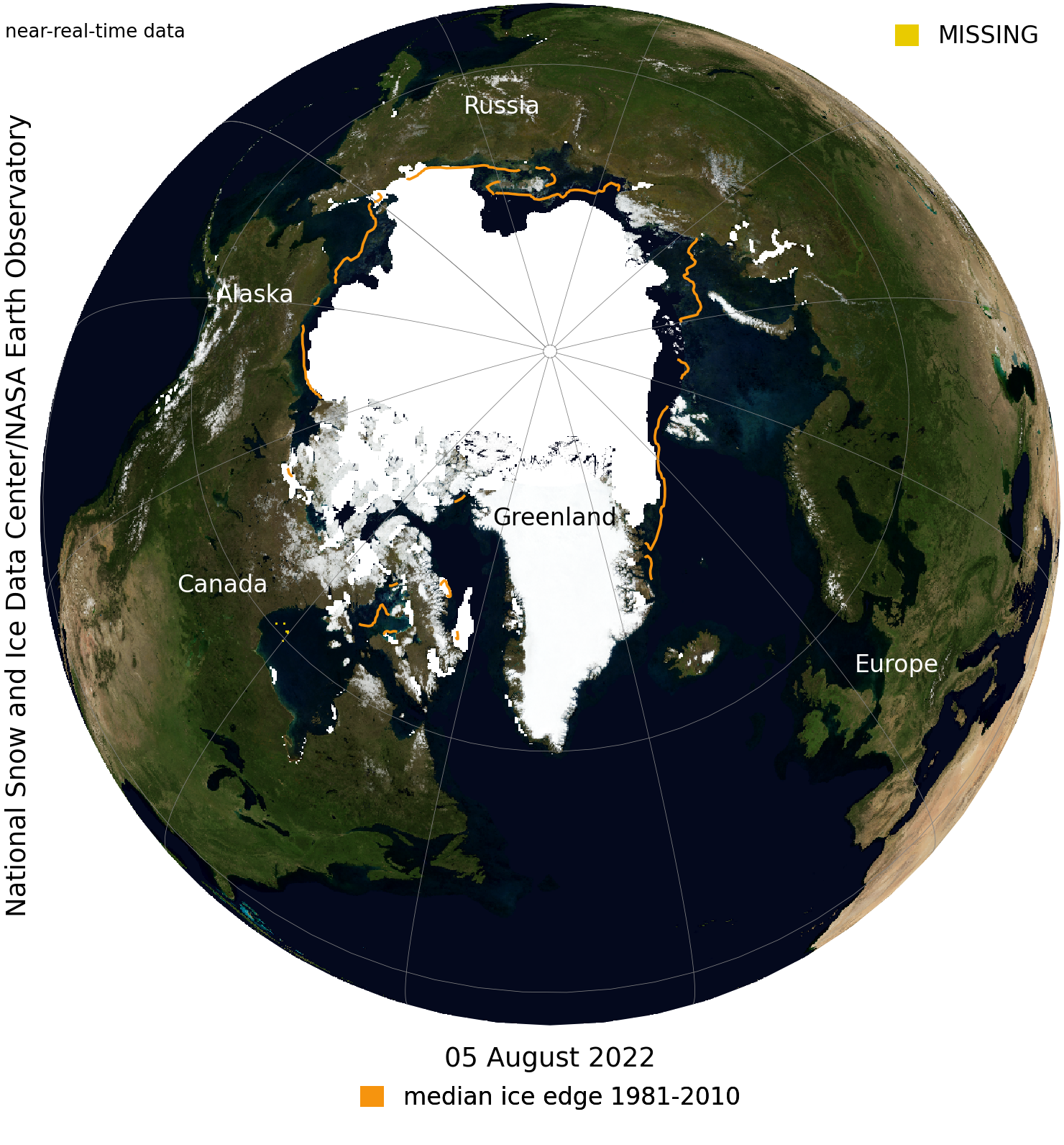 Near Real Time Data of Arctic Ice