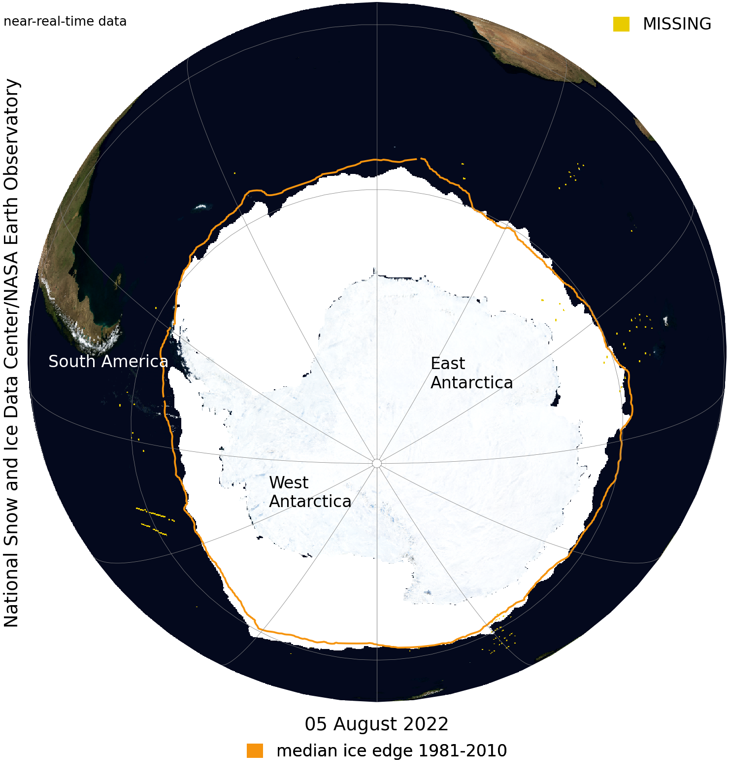 Near Real Time Data of Antarctic Ice