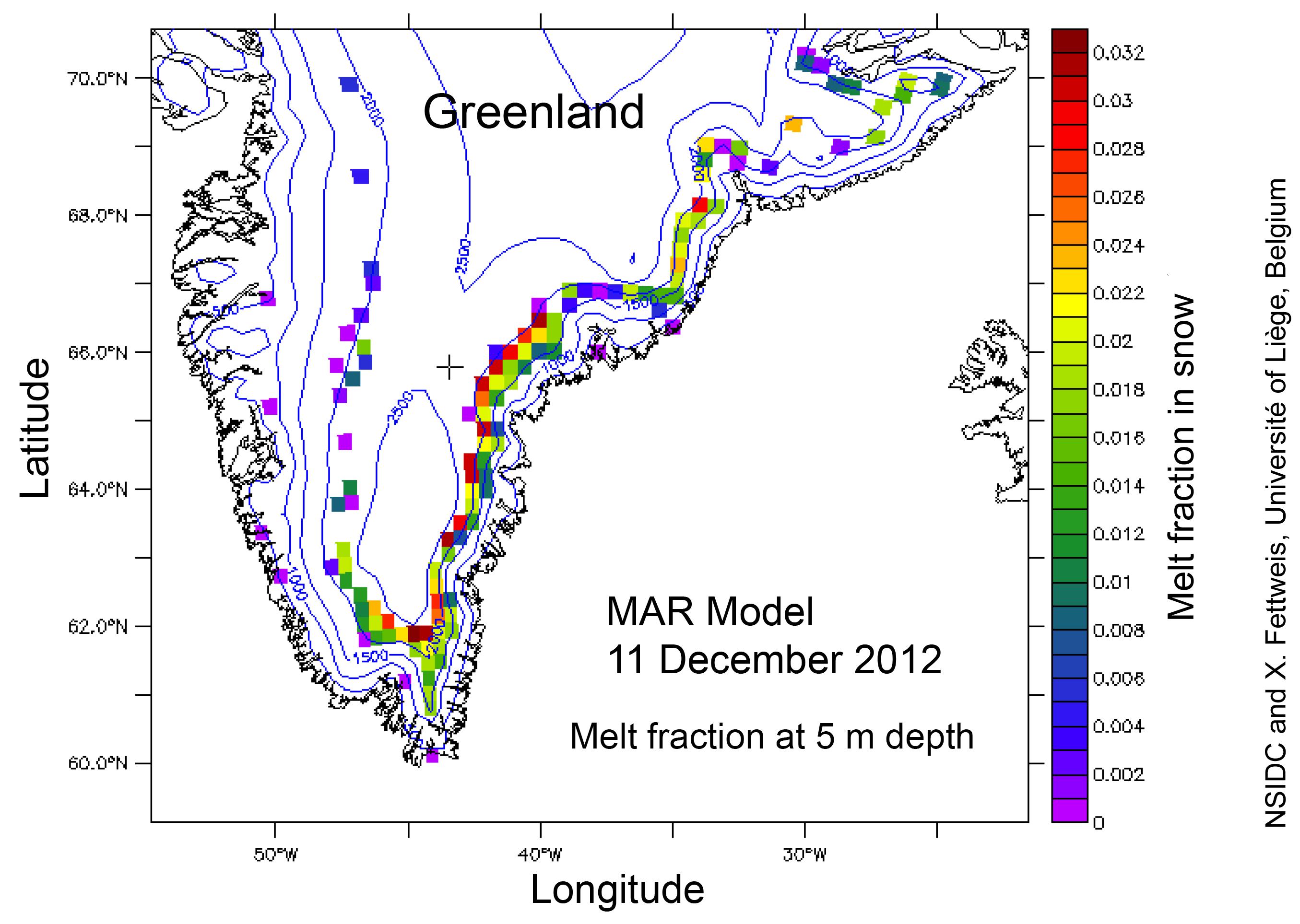 Greenland ice melt overestimated due to satellite data algorithm