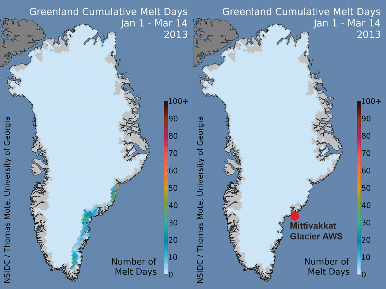 An early spring re-calibration for melt detection | Greenland Ice