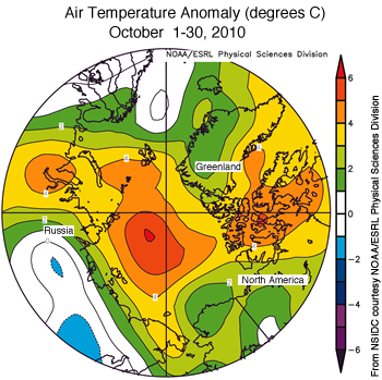 figure 4: air temperature fields for Oct 2010