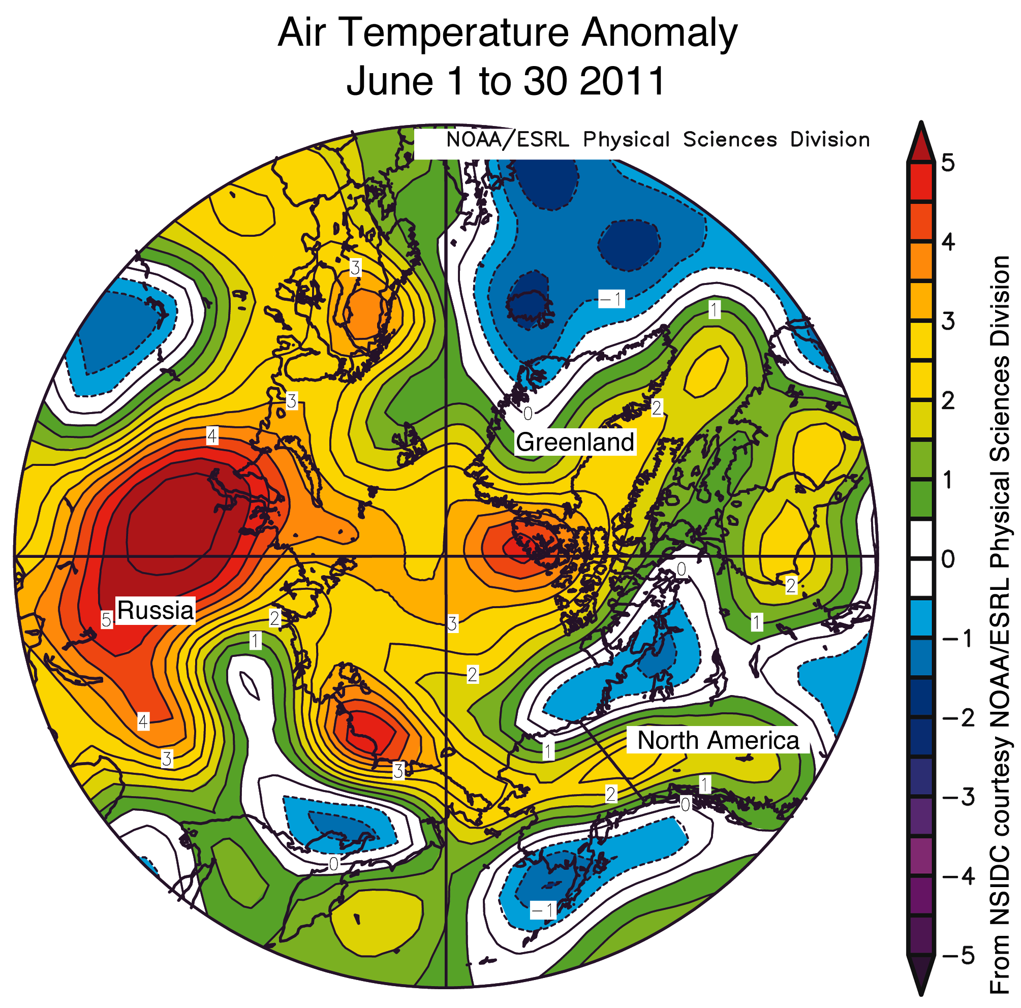 July  Arctic Sea Ice News And Analysis - North america air temperature map