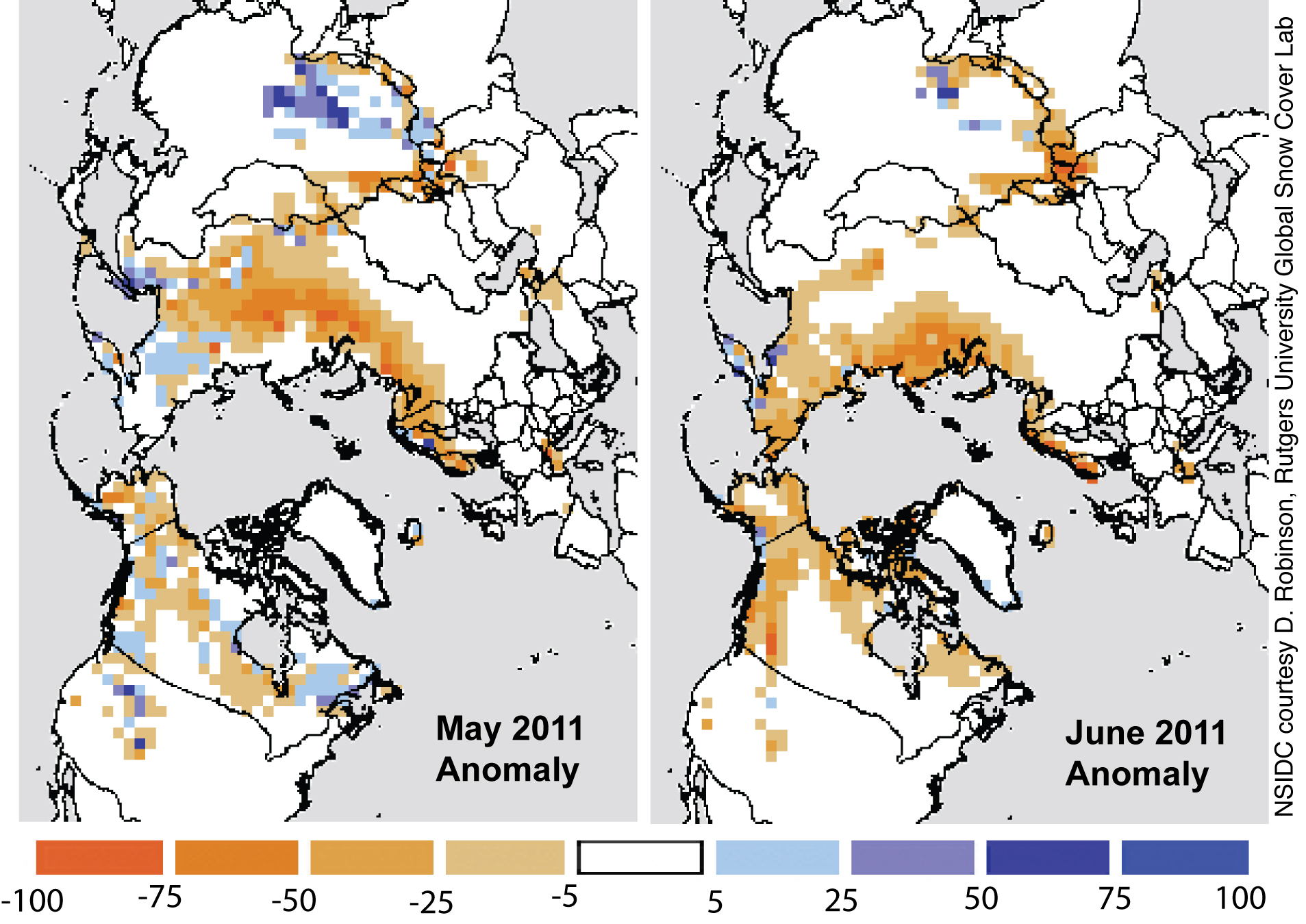 July  Arctic Sea Ice News And Analysis - Snow cover map usa
