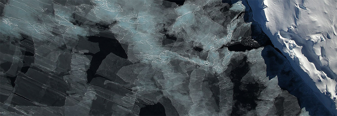Satellite image of sea ice