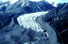 Lateral And Terminal Moraines Of A Valley Glacier Bylot Island Canada The Formed Massive Sharp Crested Moraine At Maximum Its
