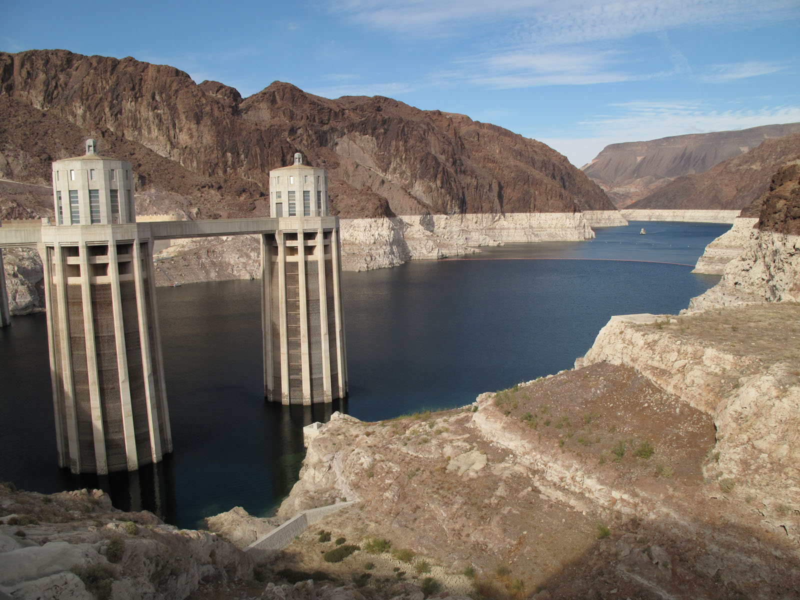 Depleted water levels of Hoover Dam