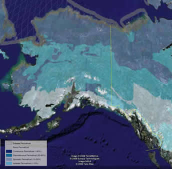 map of alaska from google earth