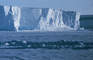 ross ice shelf in Antarctica
