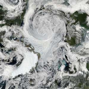 Arcitic Storm from Space
