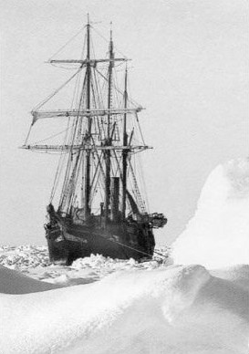 The Endurance trapped in ice